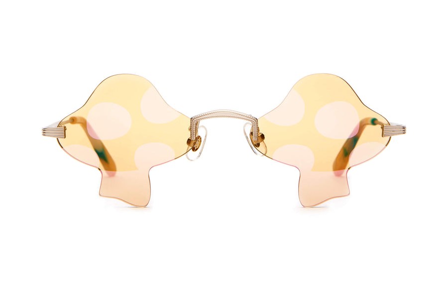 The Fun Guy - White Gold & Confetti Tortoise - / Golden Yellow - Sunglasses