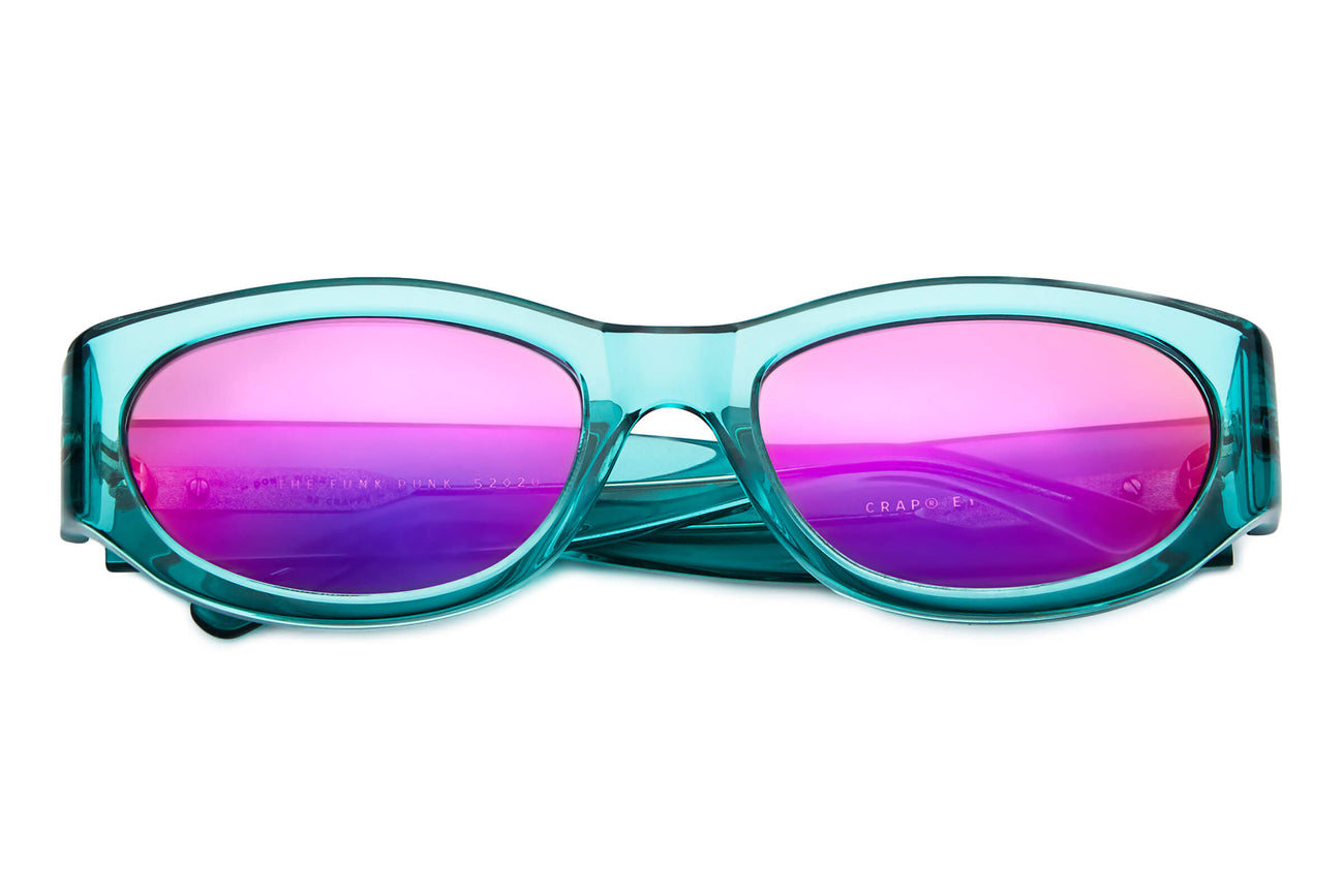 The Funk Punk - Crystal Teal - / Purple Mirror - Sunglasses