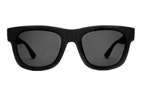 The Garageland - Flat Black - w/ Grey CR-39 Lenses - Sunglasses