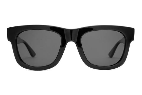 The Garageland - DEREK DUNFEE Gloss Black - w/ Polarized Grey Lenses - Sunglasses