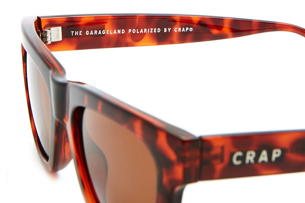 The Garageland - Gloss Brown Tortoise - w/ Polarized Amber Lenses - Sunglasses