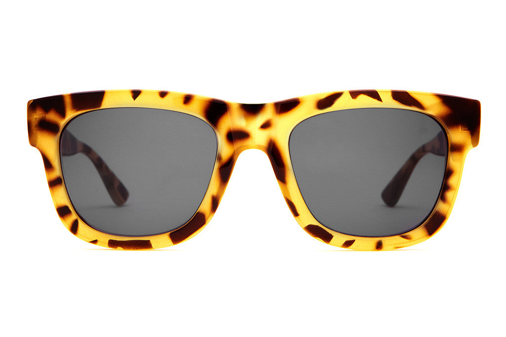 The Garageland - Gloss Jungle Tortoise - w/ Grey CR-39 Lenses - Sunglasses