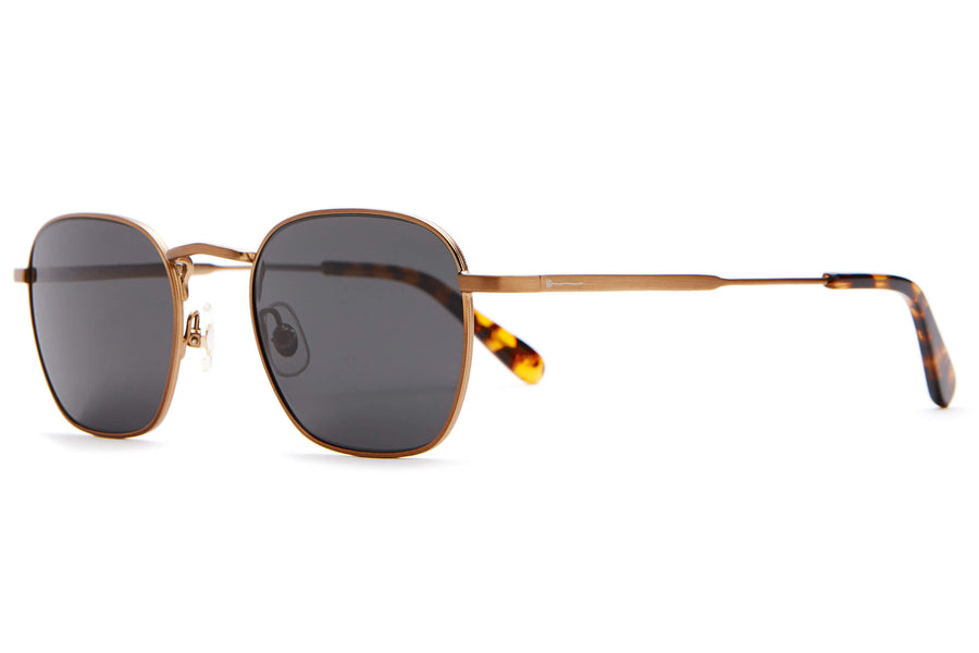 The Groove Pilot - Brushed Bronze & Rum Havana Tortoise - / Polarized Grey - Sunglasses
