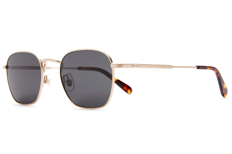 The Groove Pilot - Brushed Gold & Dark Tortoise - / Polarized Grey - Sunglasses