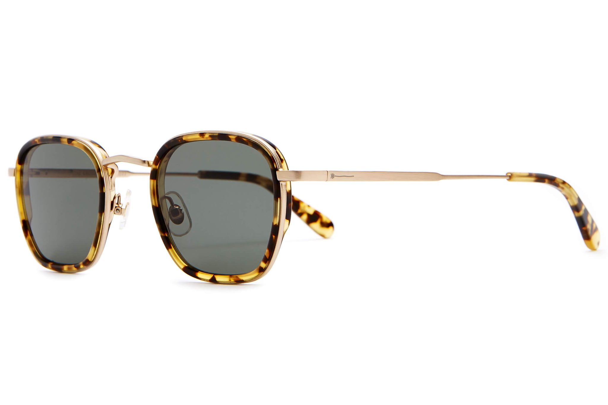 The Groove Pilot - Brushed Gold & Tokyo Tortoise - / Vintage Green - Sunglasses