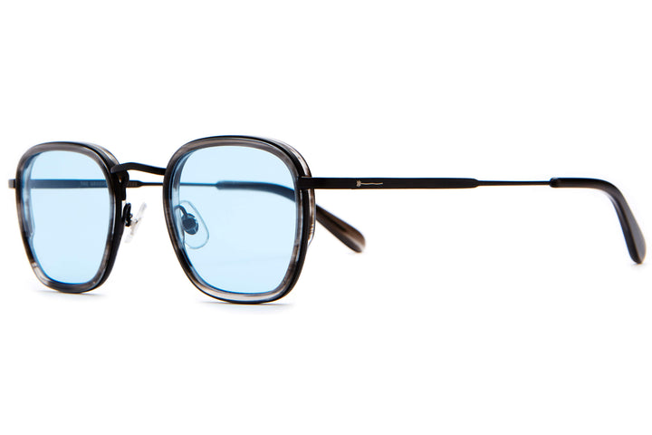 The Groove Pilot - Matte Black & Smoke Demi Tortoise - / Blue Tint - Sunglasses