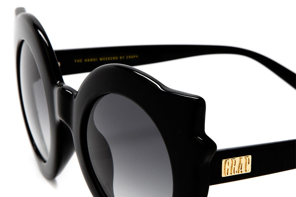 The Hanoi Weekend - Gloss Black - w/ Grey Gradient CR-39 Lenses - Sunglasses