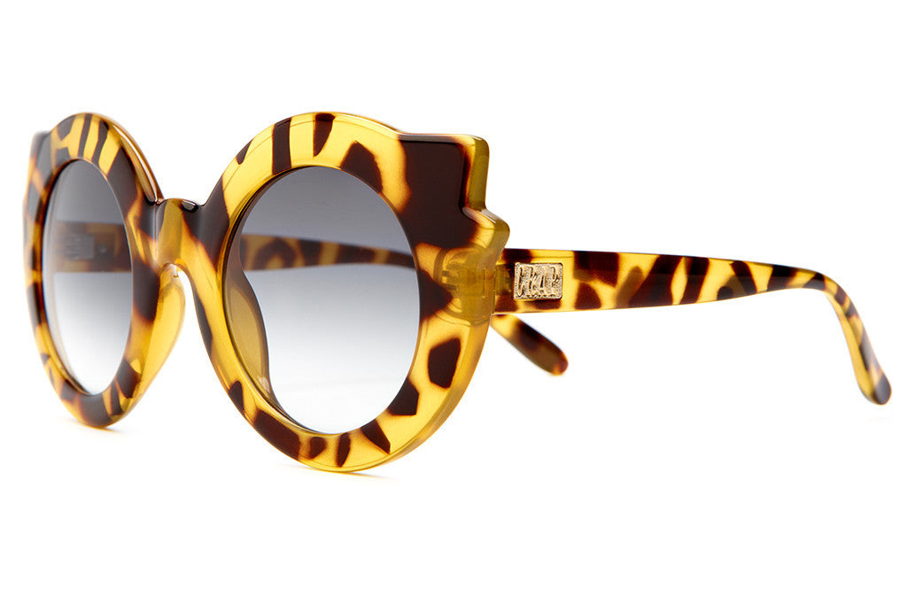 The Hanoi Weekend - Gloss Jungle Tortoise - w/ Grey Gradient CR-39 Lenses - Sunglasses