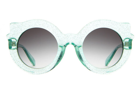 The Hanoi Weekend - Gloss Mint Glitter - w/ Grey Gradient CR-39 Lenses - Sunglasses