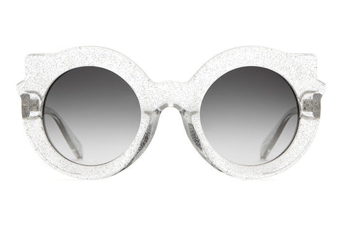 The Hanoi Weekend - Gloss Silver Glitter - w/ Grey Gradient CR-39 Lenses - Sunglasses