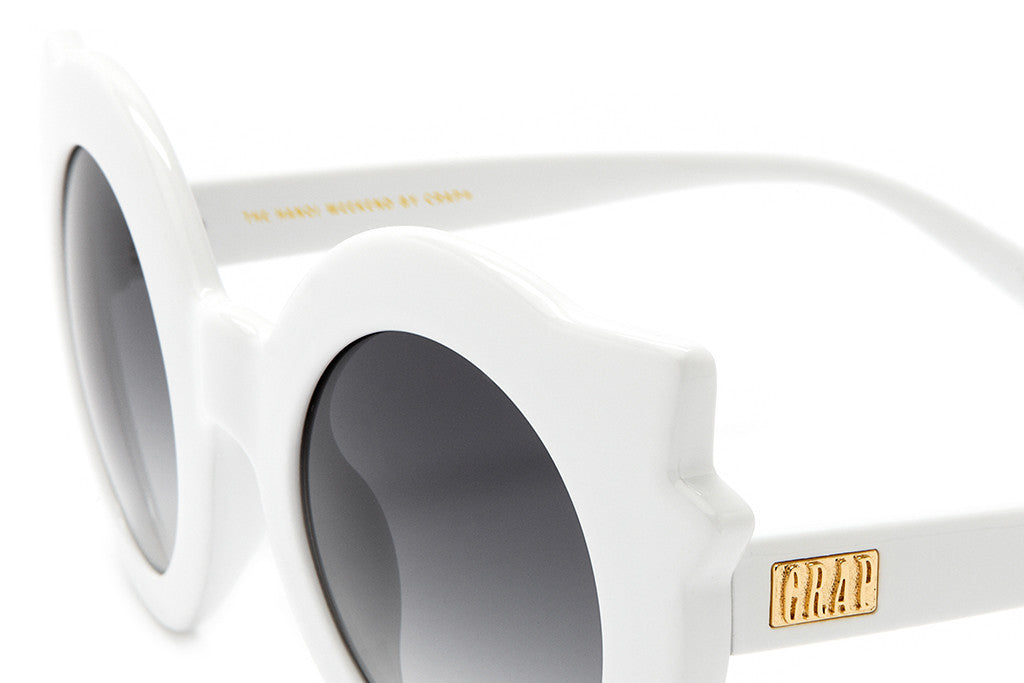 The Hanoi Weekend - Gloss White - w/ Grey Gradient CR-39 Lenses - Sunglasses