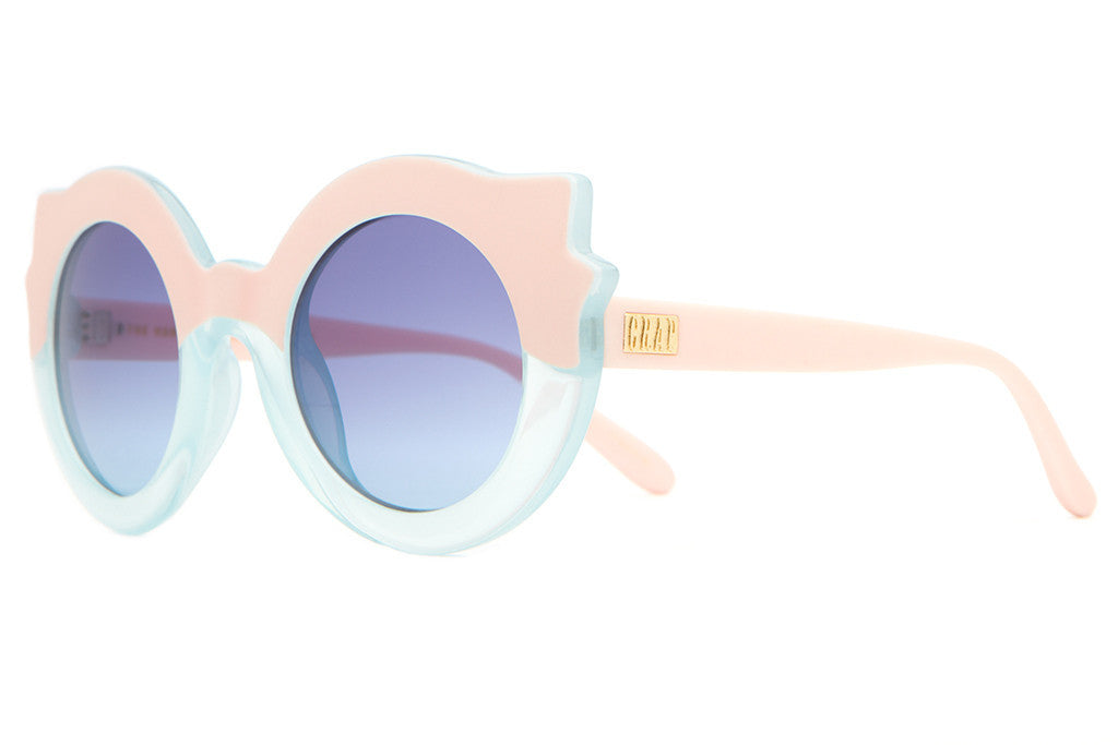 The Hanoi Weekend - Matte Light Pink & Semitranslucent Sky Blue - w/ Blue Gradient CR-39 Lenses - Sunglasses