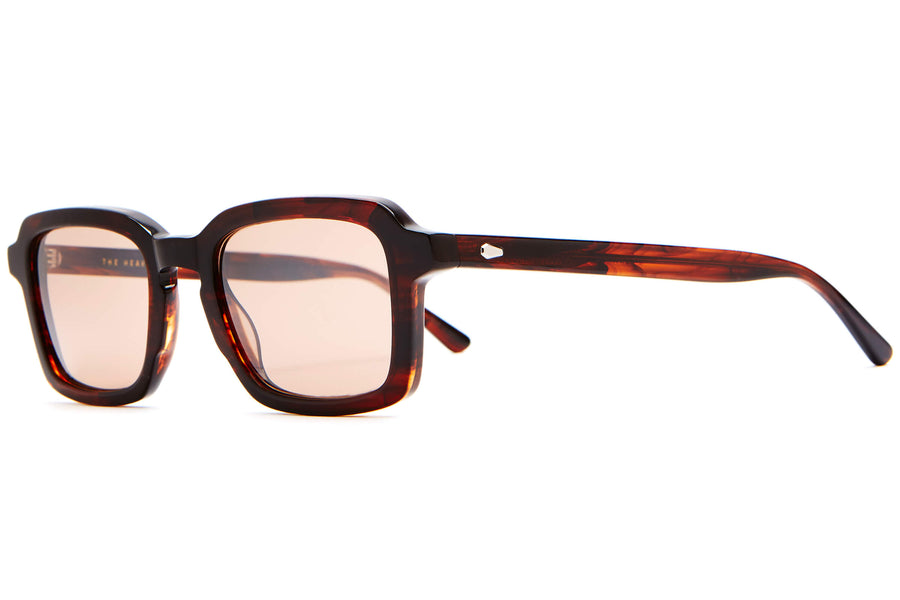The Heavy Tropix - Dark Demi Tortoise / Silver Flash Amber - Sunglasses