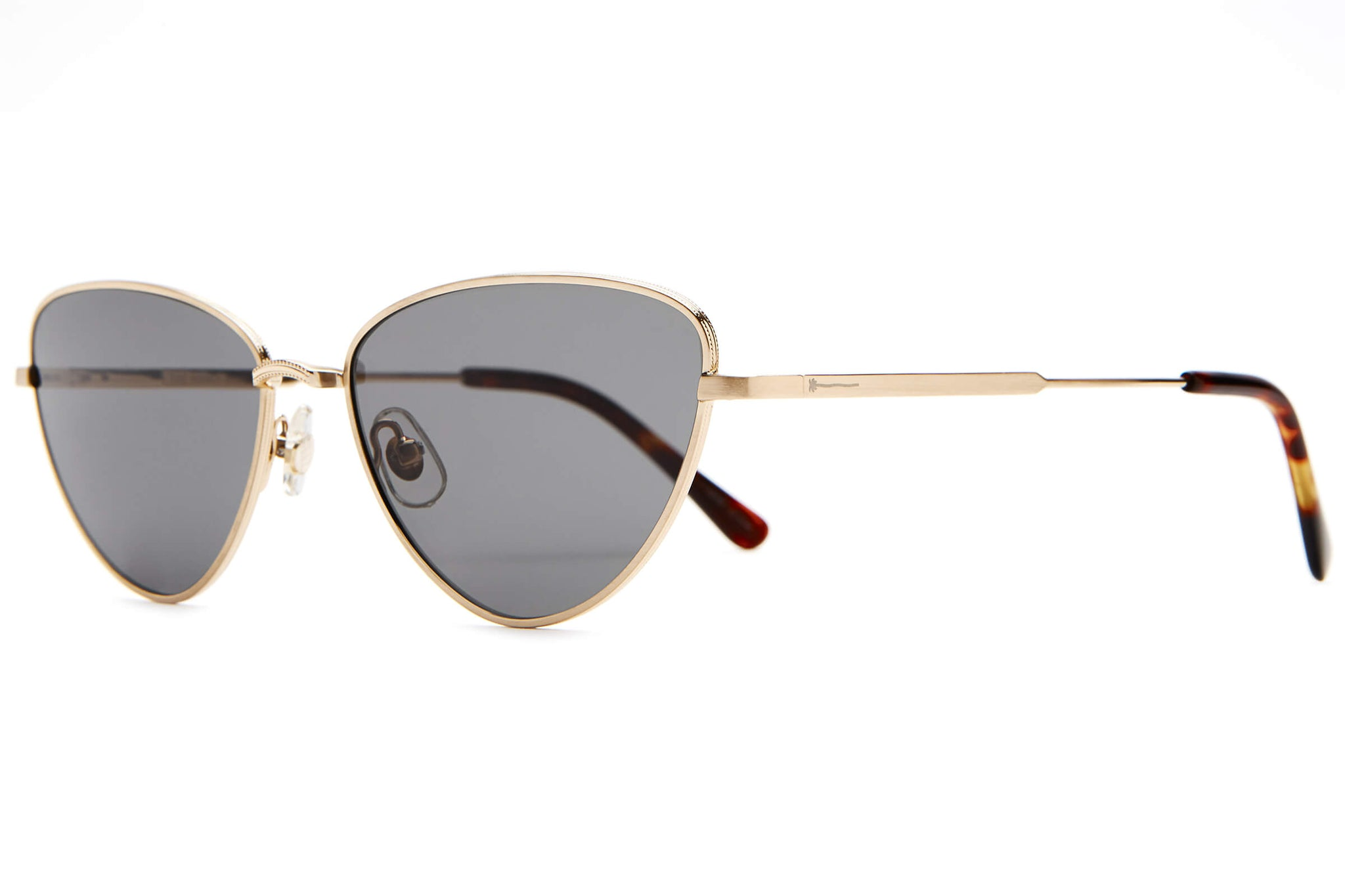 The Honey Buzz - Brushed Gold & Dark Tortoise - / Polarized Grey - Sunglasses