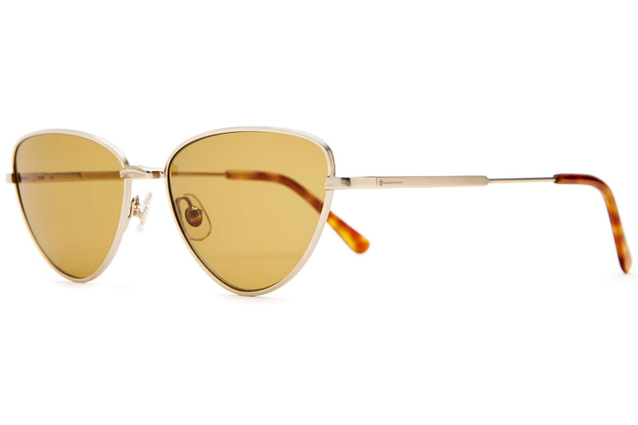 The Honey Buzz - White Gold & Havana Tortoise - / Mustard - Sunglasses