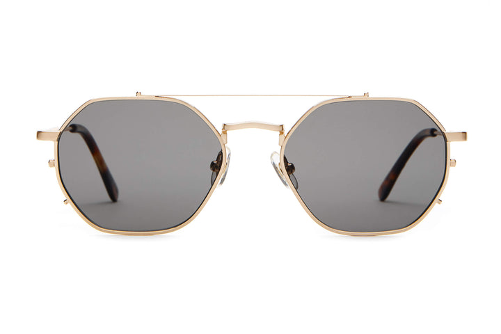 The Jazz Safari - Brushed Gold & Dark Tortoise - / Polarized Grey - Sunglasses