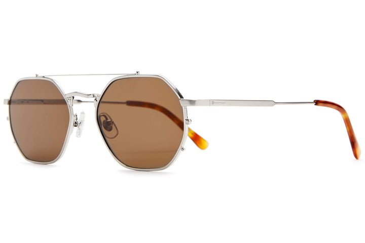 3c2b728b3d34f ... The Jazz Safari - Brushed Silver   Havana Tortoise -   Amber -  Sunglasses