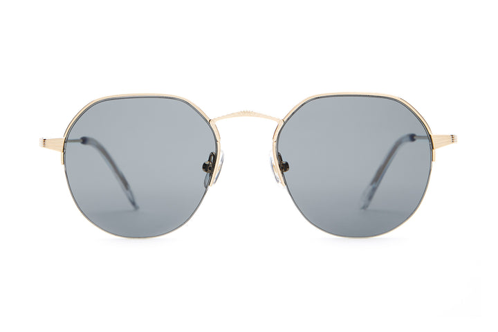The Joy Brigade - Brushed Gold & Crystal - / Polarized Grey - Sunglasses