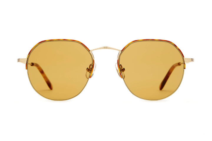 The Joy Brigade - Brushed Gold & Havana Tortoise - / Mustard - Sunglasses
