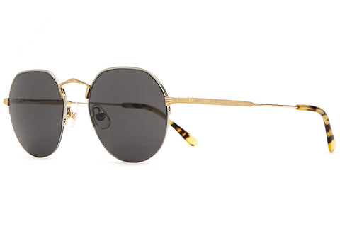 The Joy Brigade - Brushed Silver / Gold Wire & Gloss Jungle Tortoise Tips - w/ Grey Nylon Lenses - Sunglasses