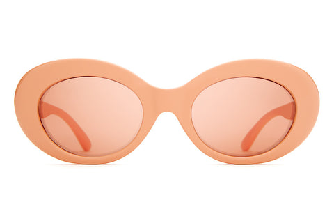The Love Tempo - Gloss Coral - w/ Coral Mirror CR-39 Lenses - Sunglasses