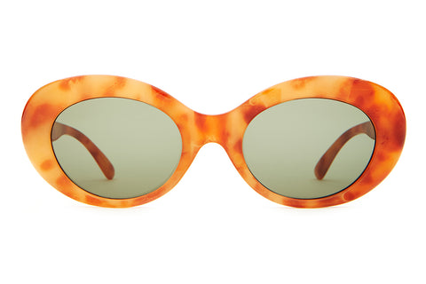 The Love Tempo - Gloss Havana Tortoise - w/ Olive CR-39 Lenses - Sunglasses