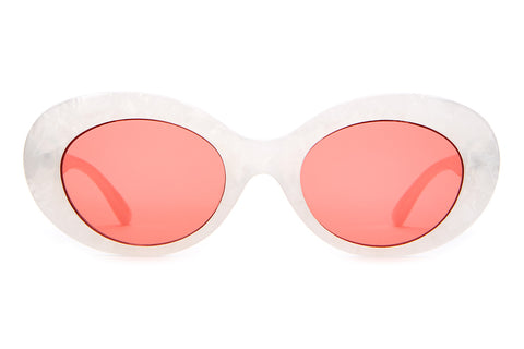 The Love Tempo - Gloss Pearl - w/ Deep Rose CR-39 Lenses - Sunglasses