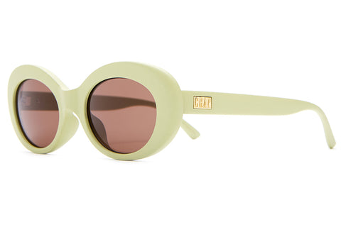 The Love Tempo - Matte Avocado Green - w/ Amber CR-39 Lenses - Sunglasses