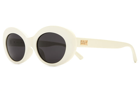 The Love Tempo - Matte Eggshell White - w/ Grey CR-39 Lenses - Sunglasses