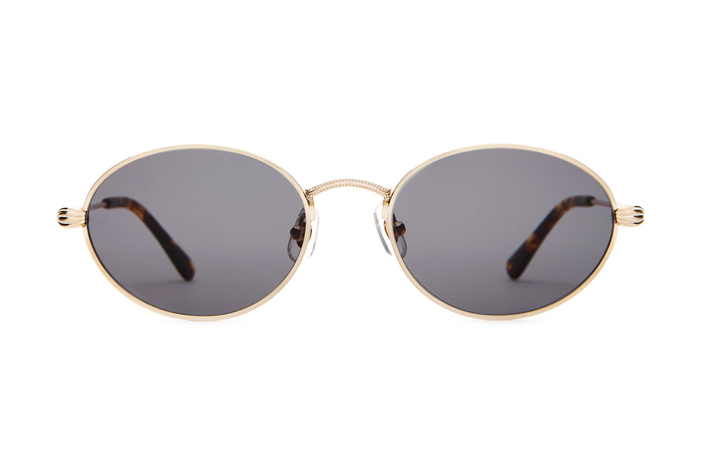 The New Riddim - Brushed Gold & Dark Tortoise - / Grey - Sunglasses