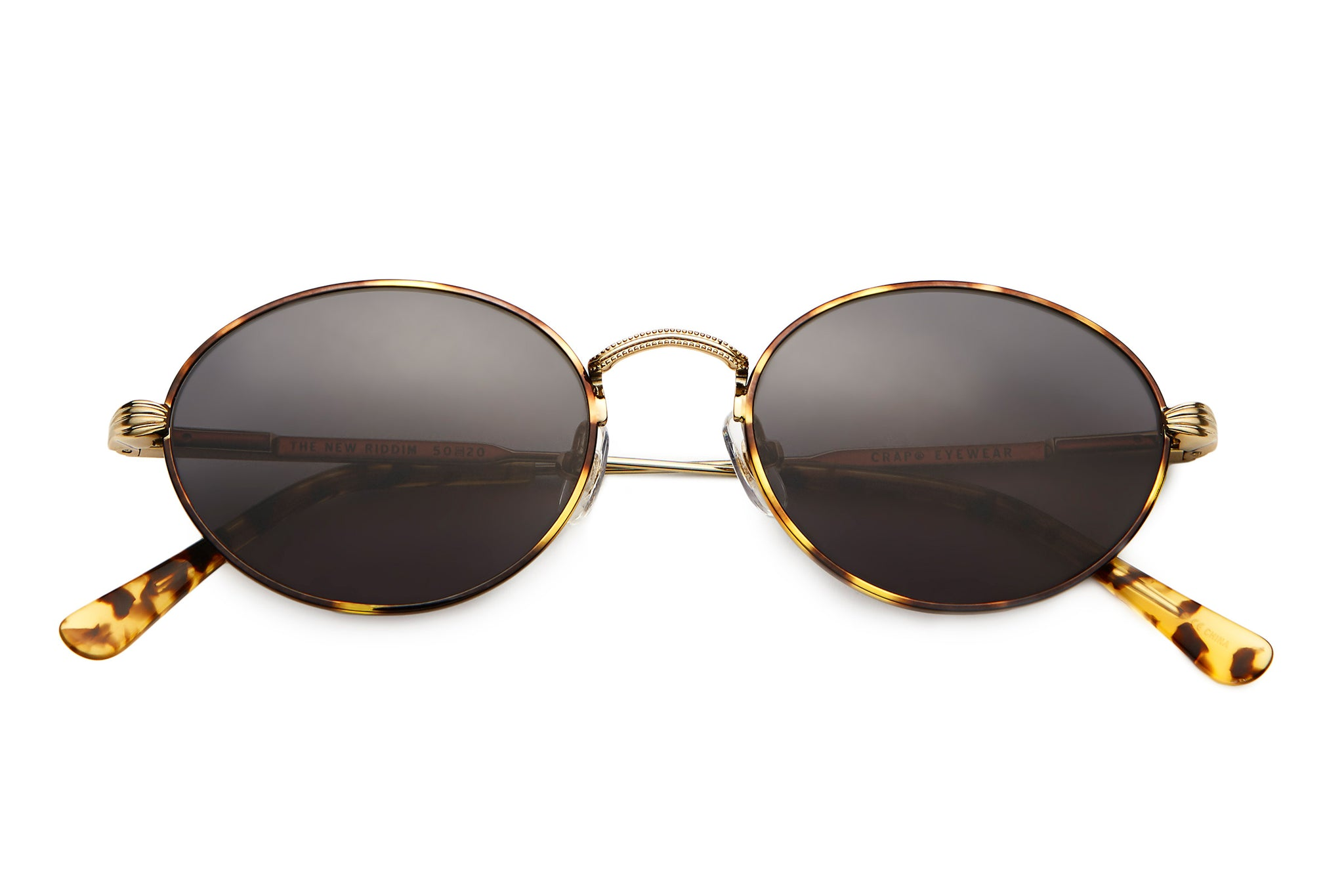 The New Riddim - Brushed Gold & Tokyo Tortoise - / Grey - Sunglasses