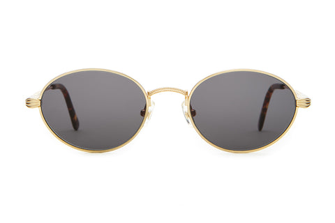 The New Riddim - Brushed Gold & Dark Tortoise Tips -  w/ Base 4 Grey CR-39 Lenses - Sunglasses