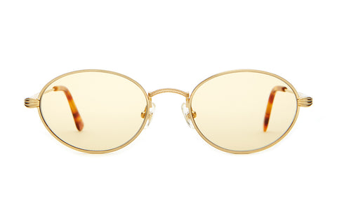 The New Riddim - Brushed Gold & Havana Tortoise Tips - w/ Base 4 Gold Tint CR-39 Lenses - Sunglasses
