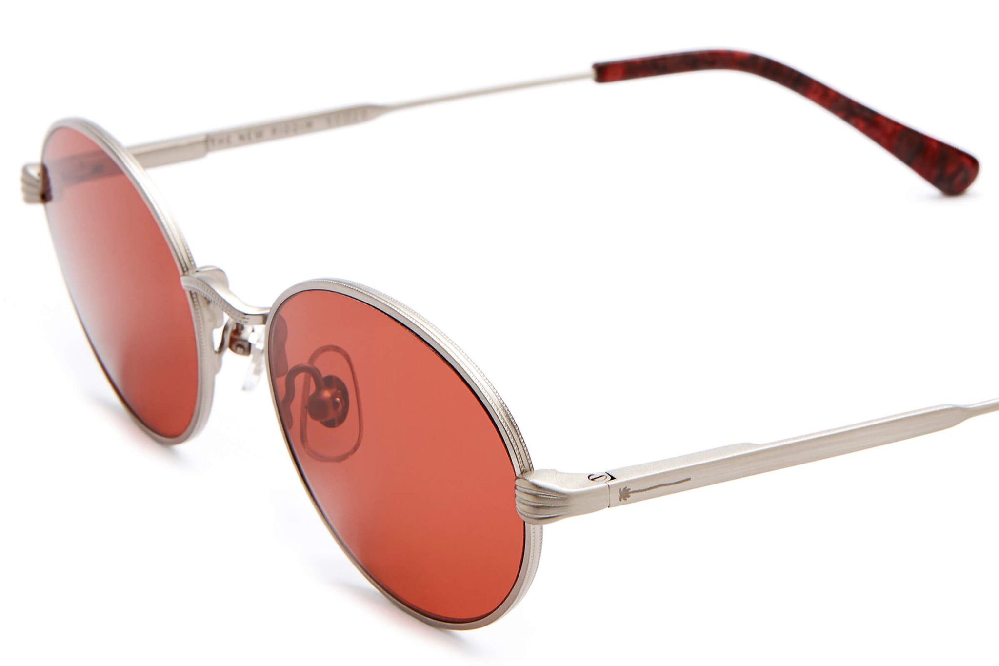 The New Riddim - Polished Silver & Red Marble - / Deep Rose - Sunglasses