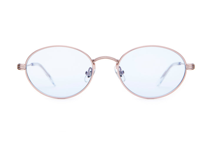 e76ab3cae2a The New Riddim - Metallic Pink -   Light Blue Tint - Sunglasses ...