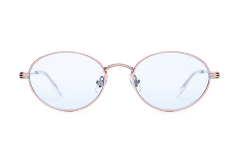 The New Riddim - Metallic Pink - / Light Blue Tint - Sunglasses