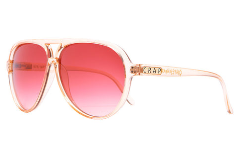 The Nite Shift - Crystal Peach - w/ Rose Gradient CR-39 Lenses - Sunglasses