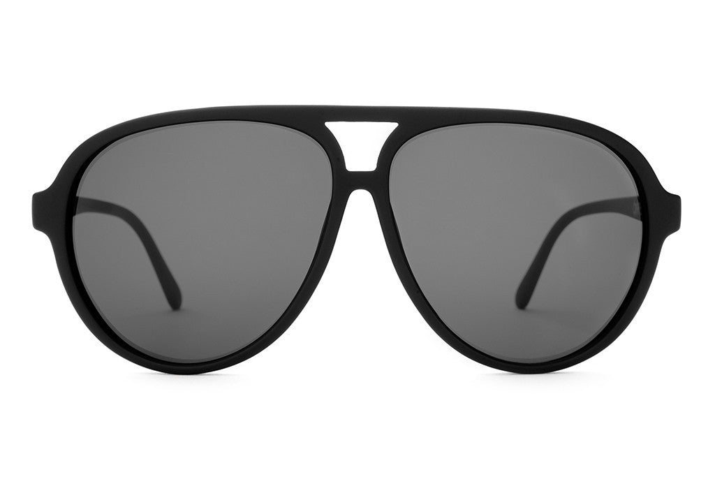 The Nite Shift - Flat Black - w/ Grey CR-39 Lenses - Sunglasses
