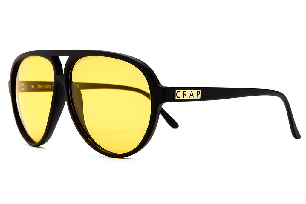The Nite Shift - Flat Black - w/ Yellow Tint CR-39 Lenses - Sunglasses