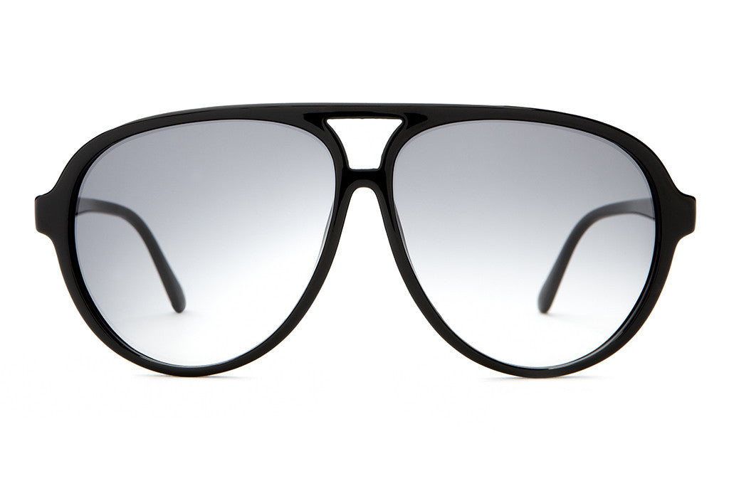 The Nite Shift - Gloss Black - w/ Grey Gradient CR-39 Lenses - Sunglasses