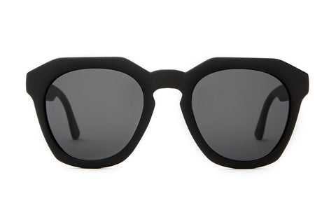 The No Wave - Flat Black - w/ Grey CR-39 Lenses - Sunglasses