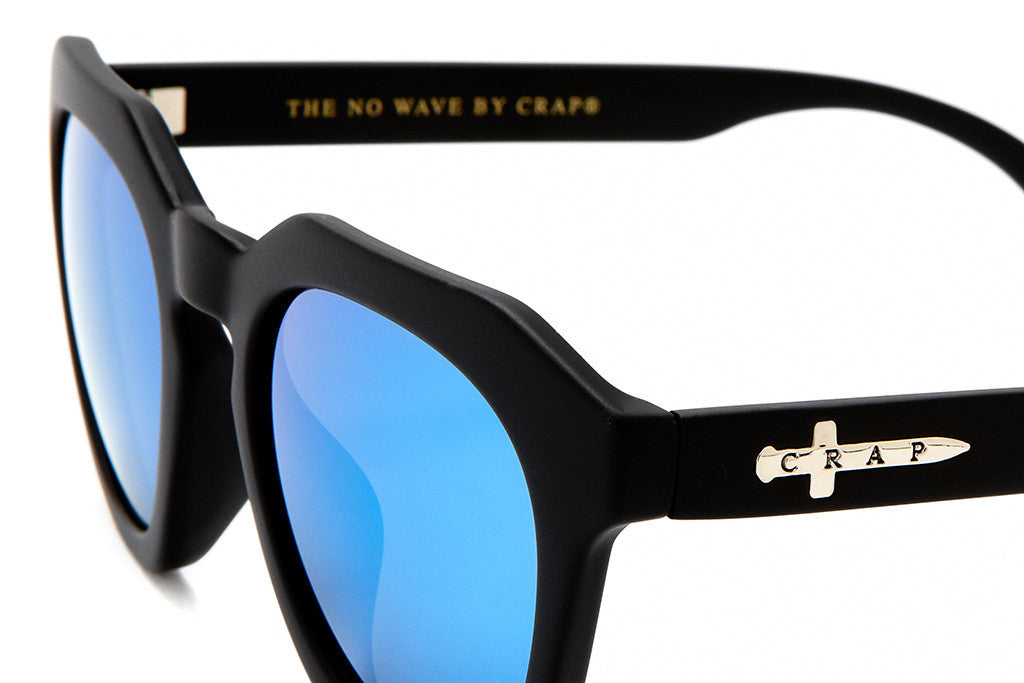 The No Wave - Flat Black - w/ Reflective Blue Lenses - Sunglasses