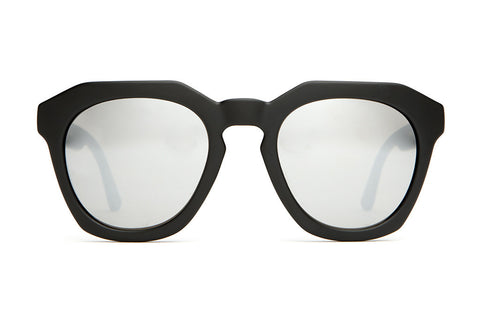 The No Wave - Flat Black - w/ Silver Mirror Lenses - Sunglasses