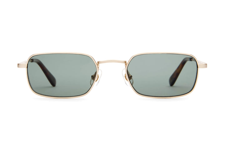 The Nu Bloom - Brushed Gold & Dark Tortoise - / Polarized G15 - Sunglasses