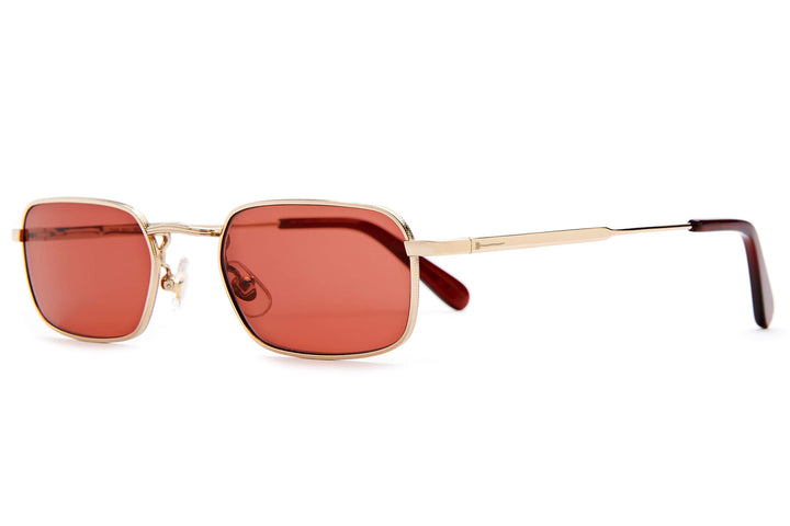The Nu Bloom - Polished Gold & Crystal Burgundy - / Deep Rose - Sunglasses