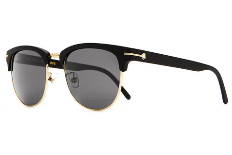 The Nudie Club - Flat Black & Gold Palm Accents - w/ Grey CR-39 Lenses - Sunglasses