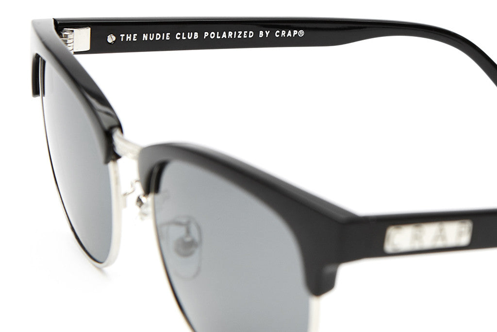 The Nudie Club - Gloss Black - w/ Polarized Grey Lenses - Sunglasses