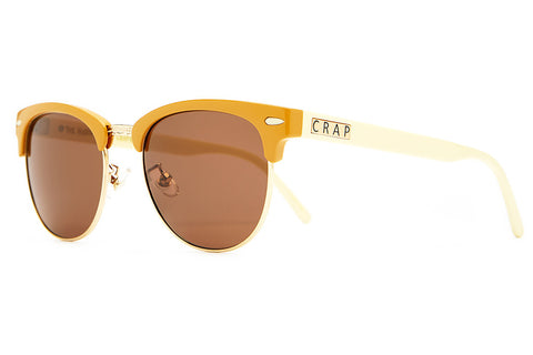 The Nudie Club - Gloss Camel & Cream Stems - w/ Amber Lenses - Sunglasses