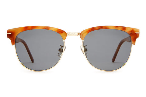 The Nudie Club - Havana Tortoise & Gold Palm Accents - w/ Polarized Grey Lenses - Sunglasses