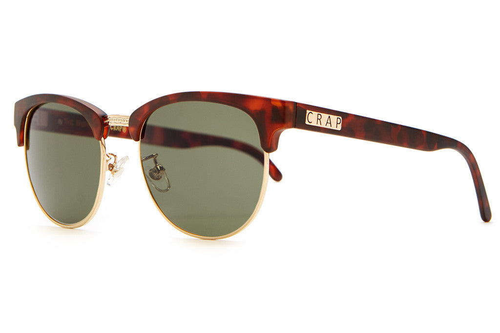 The Nudie Club - Matte Brown Tortoise & Gold Wire - w/ Olive CR-39 Lenses - Sunglasses
